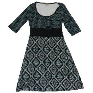 Athleta Elbow Sleeve Ruched Waist Dress Size S